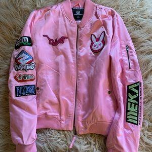 7bd182ed1 Overwatch d.va satin bomber jacket XXL